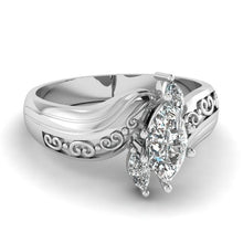 Load image into Gallery viewer, Exquisite and beautiful women's 925 pure silver Natural White Sapphire Diamond Ring