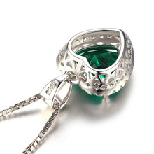 Load image into Gallery viewer, 925 Sterling Silver Green Emerald Pendant