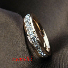 Load image into Gallery viewer, Eleganter Silber / Rosen Gold Titanium Damen Ring