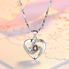 Load image into Gallery viewer, 925 Sterling Silver Mini Heart Pendant Necklaces for Women