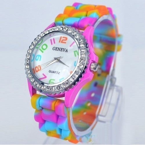 Fashion Candy Color Kids Children Watch
