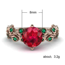 Load image into Gallery viewer, Gorgeous Rose Gold Filled Round Cut Ruby Ring