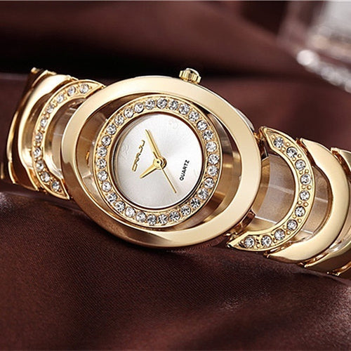 Elegant luxury Ladies casual quartz diamond watch