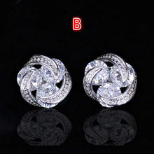 Load image into Gallery viewer, New Women's Gemstone Studs Fashion Colored Zircon Earrings