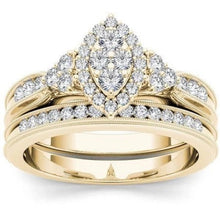 Load image into Gallery viewer, 18K Gold Luxury Diamond  Gemstone Ring for Woman