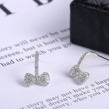 Load image into Gallery viewer, Luxury 925 Silver 18K White Gold Topaz Diamond Stud Earrings