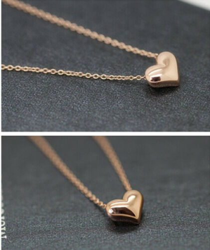 Lovely Gift Tiny Little Heart Love Gold Pendant Necklace