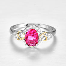 Load image into Gallery viewer, Rainbow & Ruby & Blue & White Topaz Cut Gemstones Ring