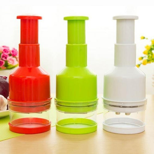 Kitchen Pressing Vegetable Onion Garlic Chopper Cutter Slicer Peeler Dicer Tool