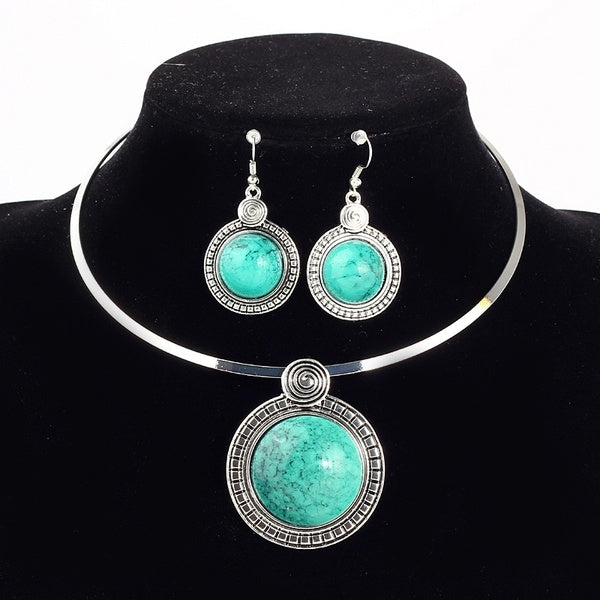 925 Sterling Silver Pendant Necklace and Earrings Set for Women
