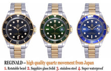 Load image into Gallery viewer, Sapphire Glass Stainless Steel Band Sport Quartz Wristwatch Reloj 40mm