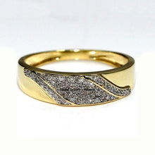 Load image into Gallery viewer, Gorgeous 2 Pcs  18k Solid Yellow Gold Rings Set