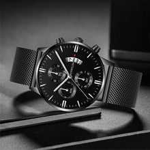 Load image into Gallery viewer, Hochwertige Herren Stainless Steel Business Analog Armband Uhr