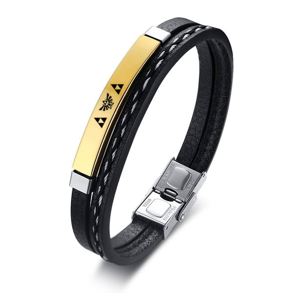 Modisches Multi Layer Leder Herren Armband