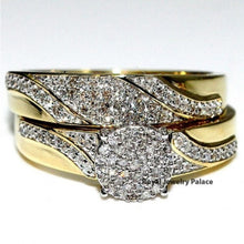 Load image into Gallery viewer, Hochwertiges und edles  2er Set 18k Gelb Gold Ring Set
