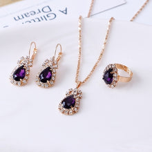 Load image into Gallery viewer, 4 Pieces / Set of Luxury Sapphire Princess Crown Necklace Set