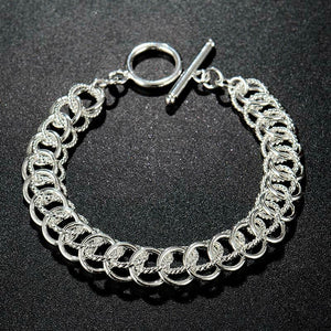 Exquisites 925 Sterling Silber Damen Armband