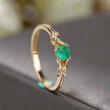 Load image into Gallery viewer, Exquisiter eleganter 750 Gold Smaragd Damen Ring