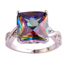 Load image into Gallery viewer, Wunderschöner 925 Sterling Silber Natur Tourmaline Edelstein Damen Ring