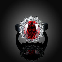 Load image into Gallery viewer, Ruby Blossoming Pav'e Ring in 18K White Gold