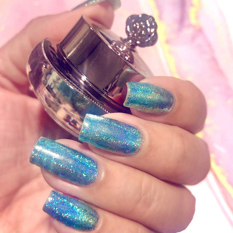 Turquoise Holographic