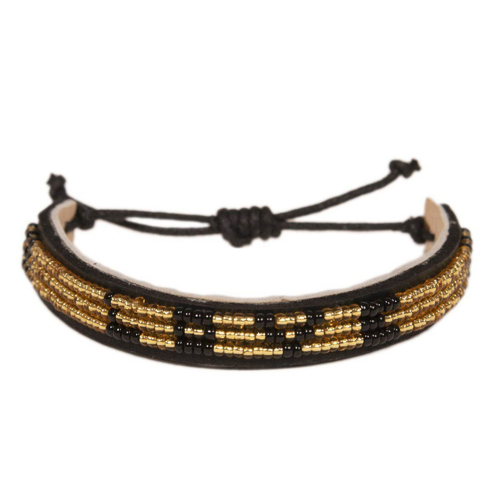 Skinny LOVE BRACELET - Gold and Black