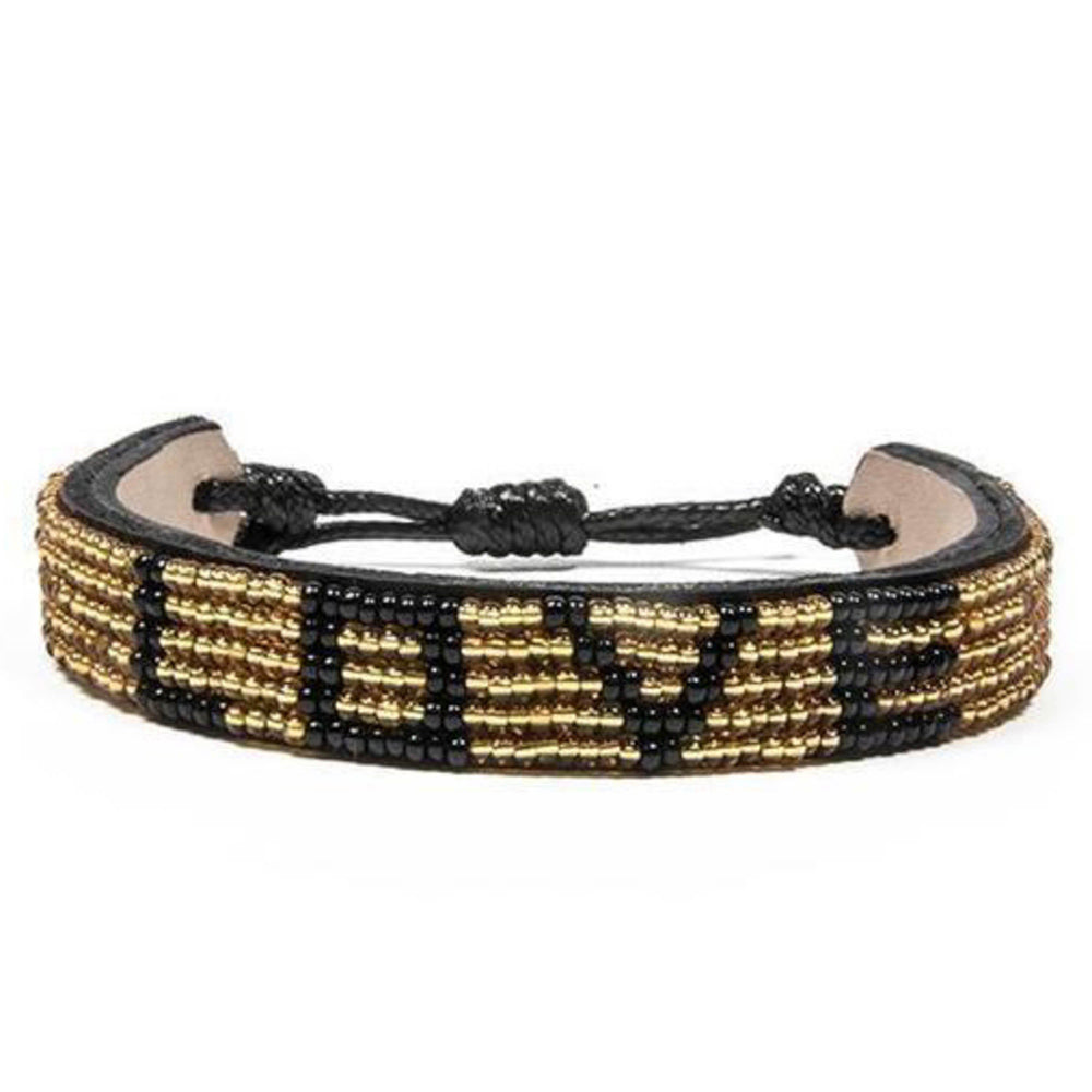 LOVE BRACELET - Gold and Black
