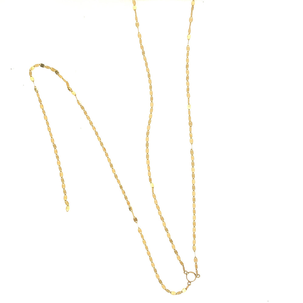 Long Y Gold Necklace