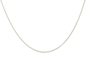 White Gold Wheat Chain