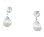 SILVER CONCAVE DROP EARRINGS