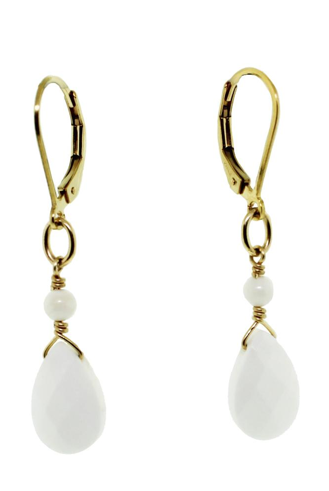 White Coral Earrings