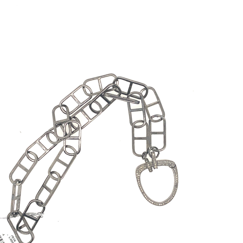 Sterling Silver Ladder Chain Necklace