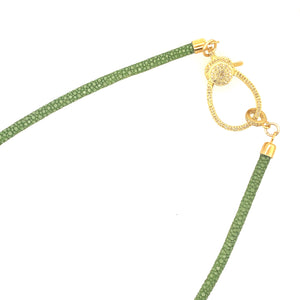 Green Stingray Necklace