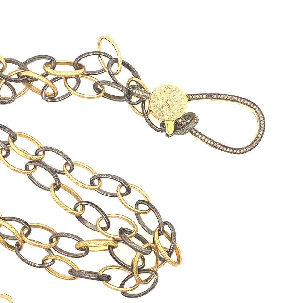 Sterling Silver and Gold Chain Link Necklace
