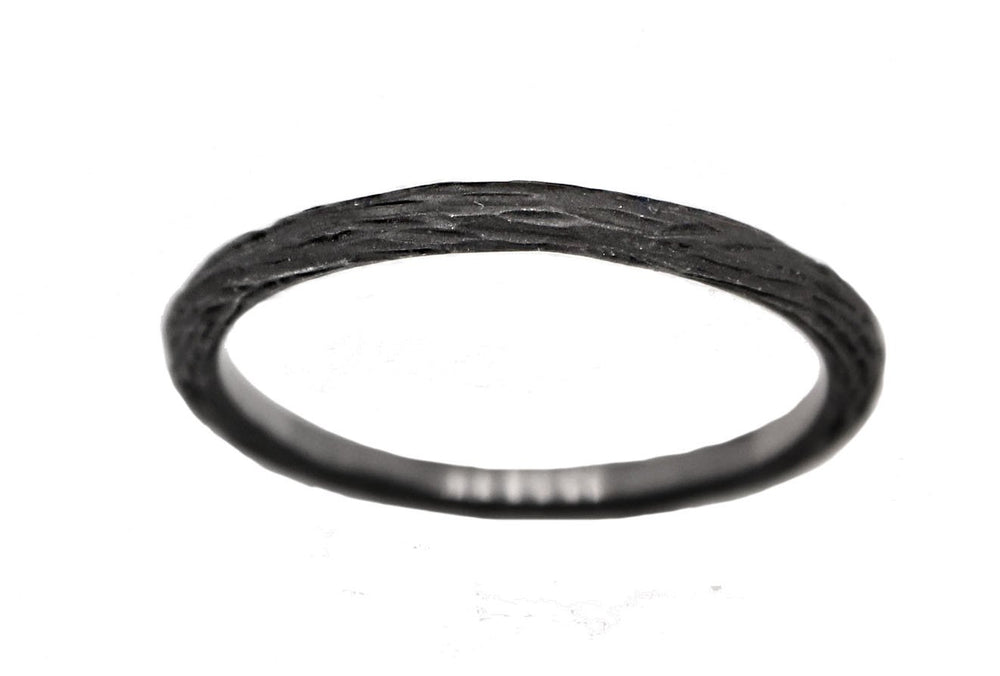 Thin Black Pebble Stacking Band