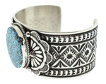 Spiderweb Turquoise and Silver Cuff