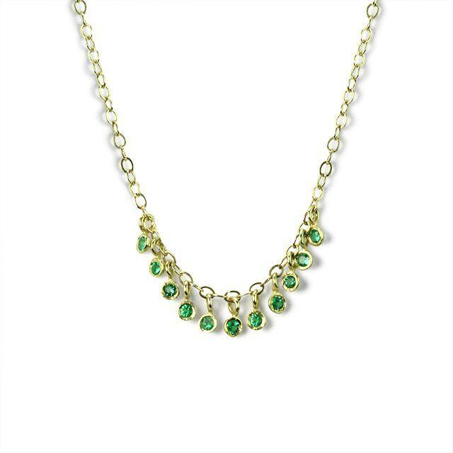 Round Emerald Necklace