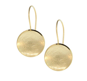 GOLD PLATED DISC DANGLES