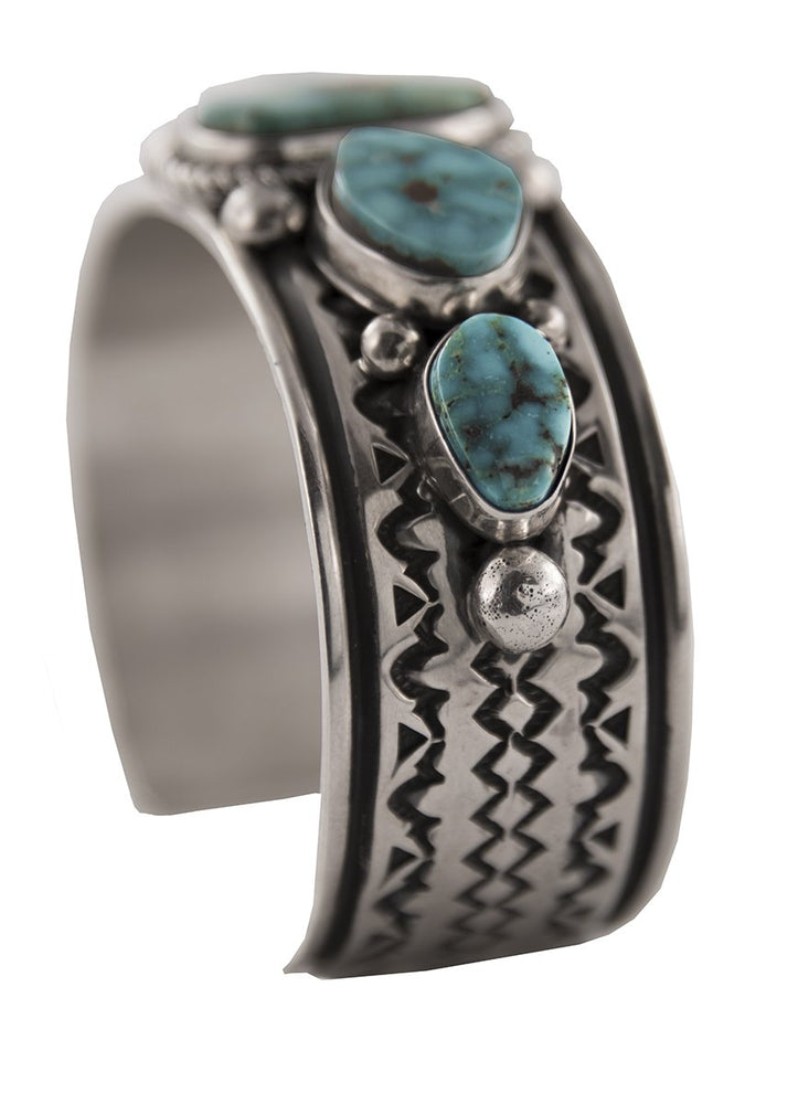 Kingman Turquoise Stamped Cuff