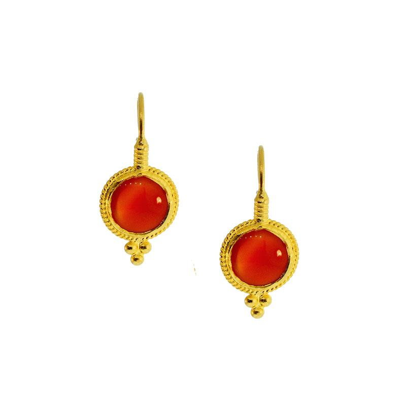 Orange Agate Earrings