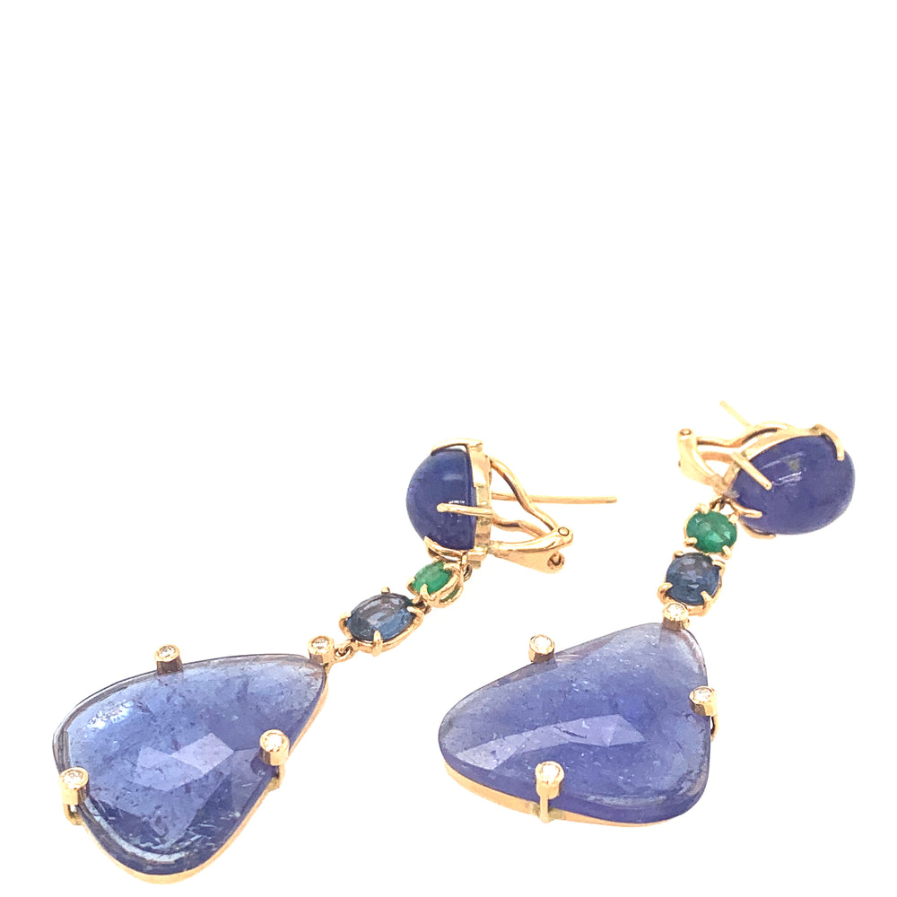 Tanzanites with Emeralds