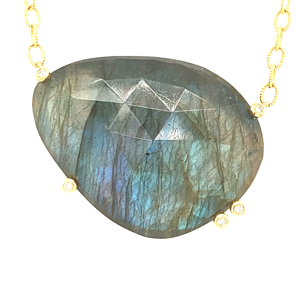 Labradorite and Diamond Necklace