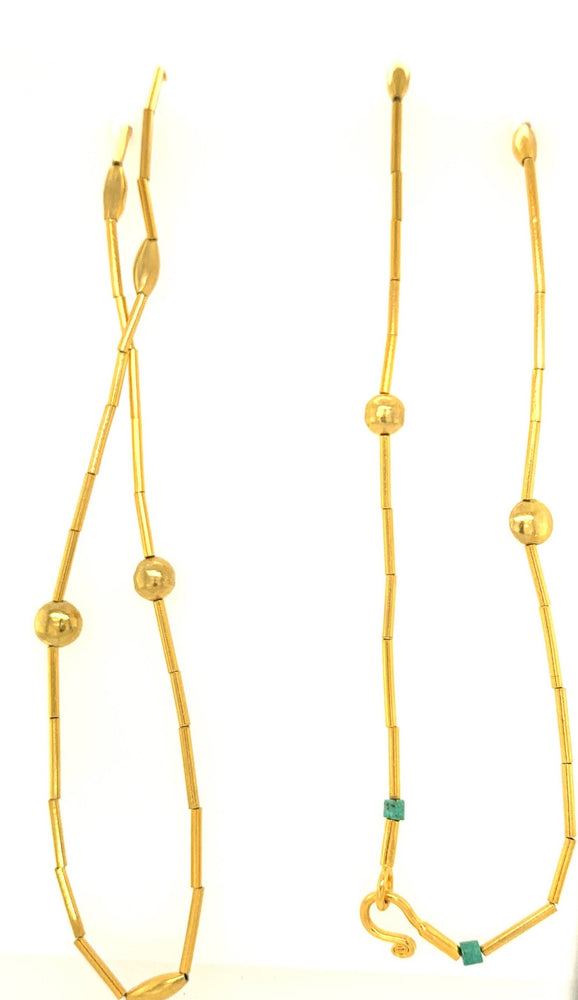24k Gold Overlay Long Necklace