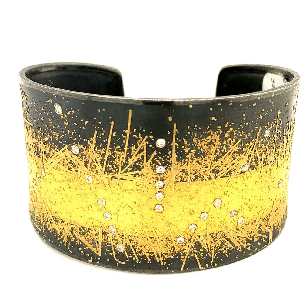 Splatter Cuff with Diamonds