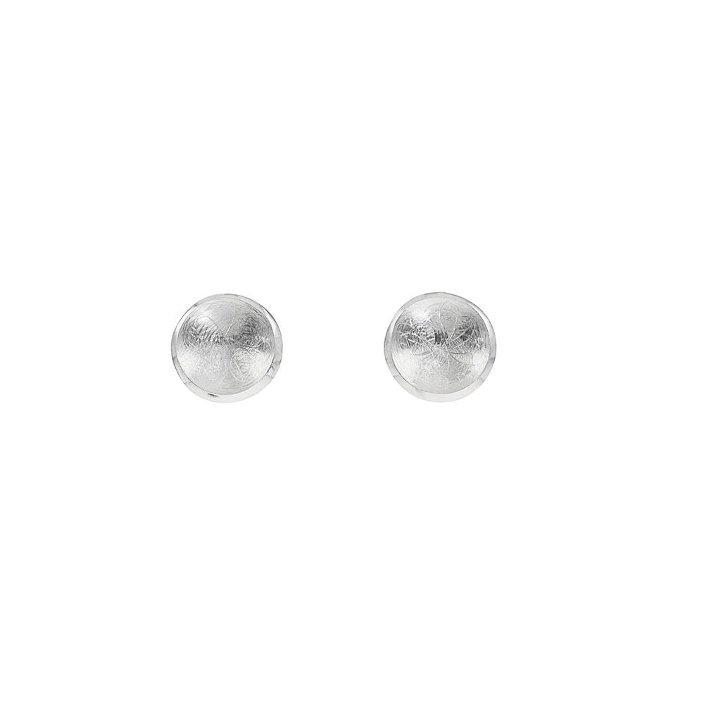 Round Concave Stud Earrings