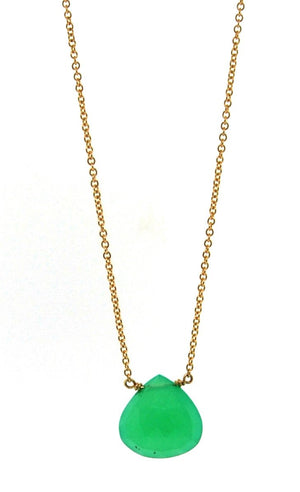 Chrysoprase Faceted Pendant