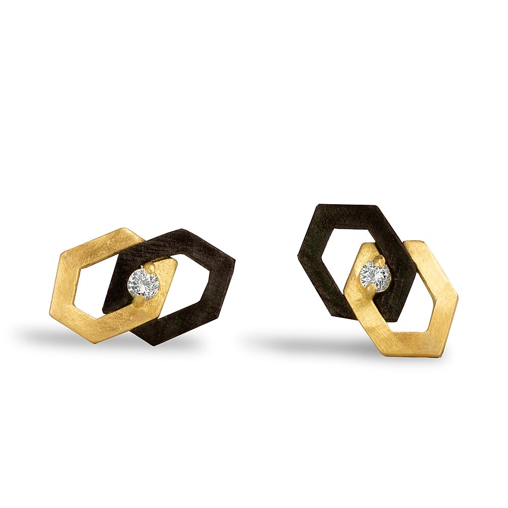 Hex Diamond Interlock Stud