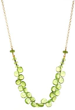Peridot Oval Cluster Necklace