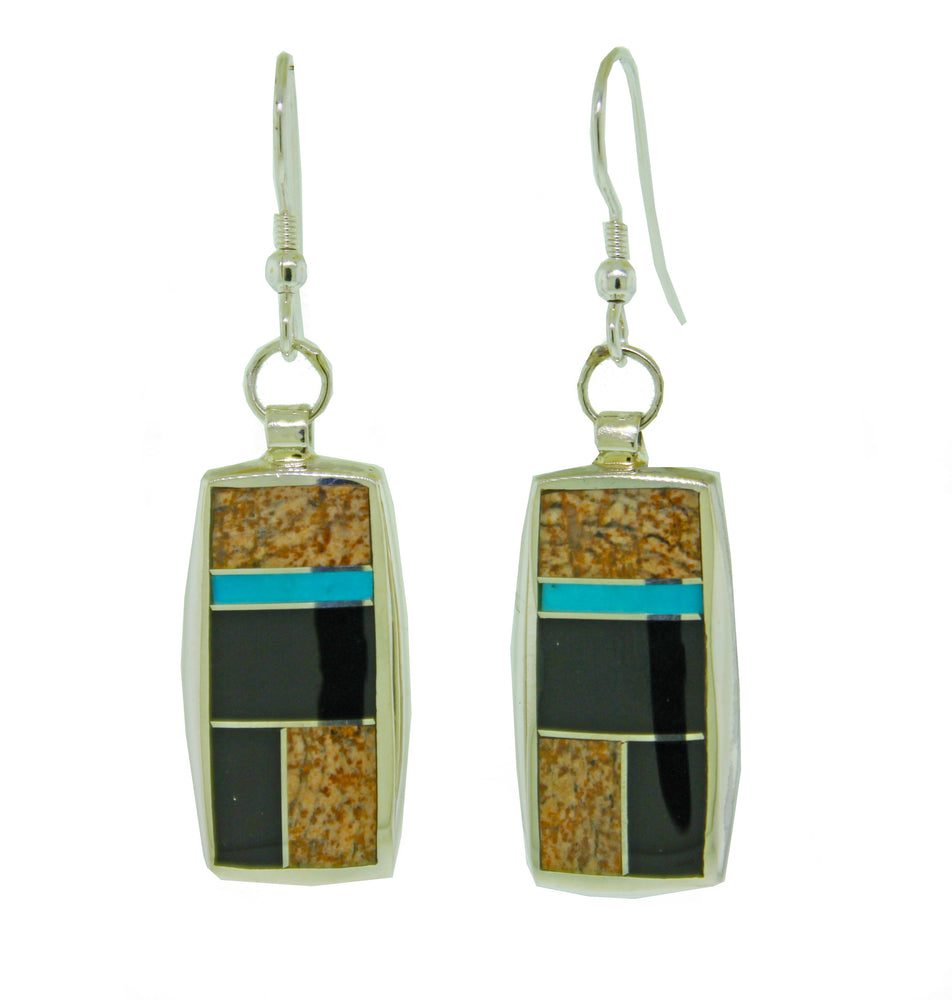 Rectangular Multi Stone Inlay
