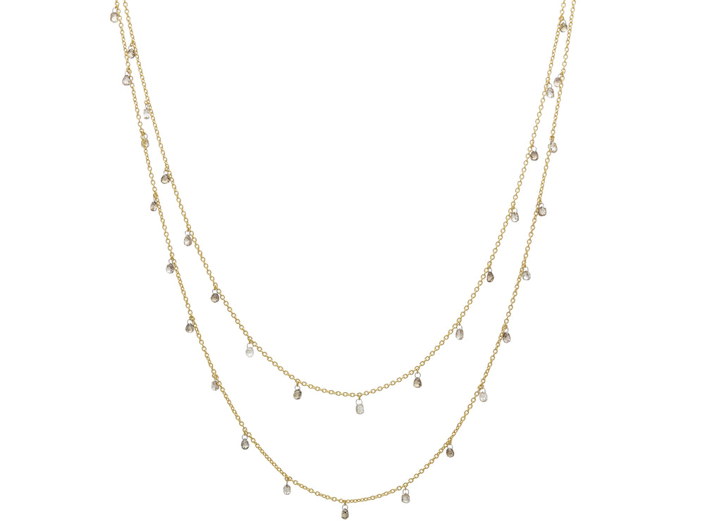 Briolette Champagne Diamond Necklace